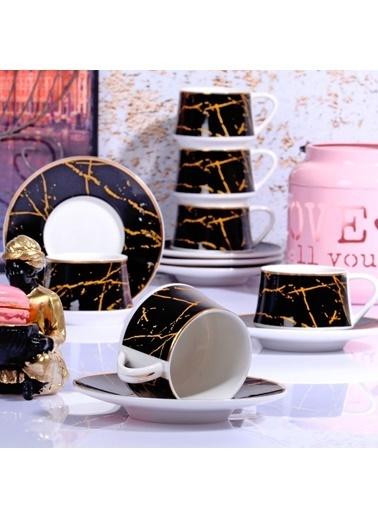 Kitchen World Kitchen Word FIN-507 New Bone 120 CC 6lı Kahve Takımı Renkli